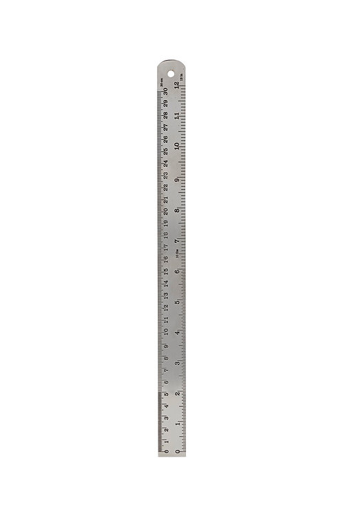 Lineal 30 cm Silber-Finish I MONOGRAPH