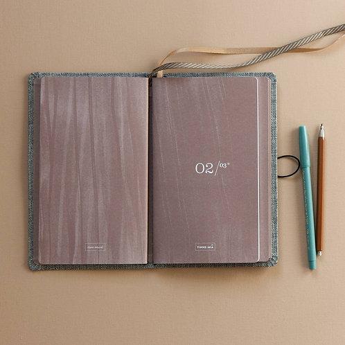 Nachfüll-Heft gepunktet für Notizbuch mit Knopf