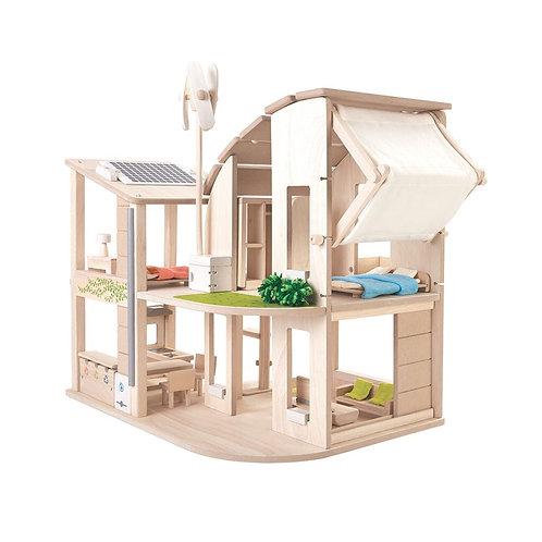 Öko-Puppenhaus mit Möbeln I PlanToys
