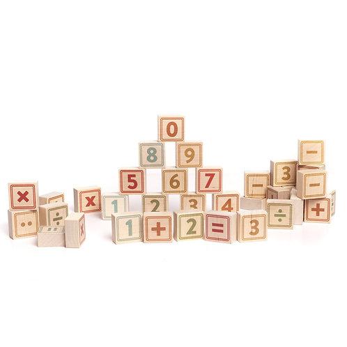Holzklötze Zahlen & Symbole