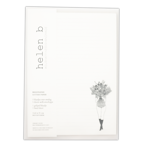 Briefpapier Set flower girl | helen b