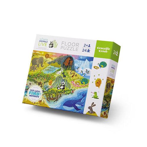Puzzle 24 Stück Animals I CROCODILE CREEK