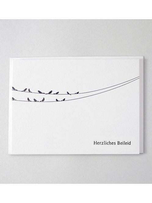 Trauerkarte Vögel