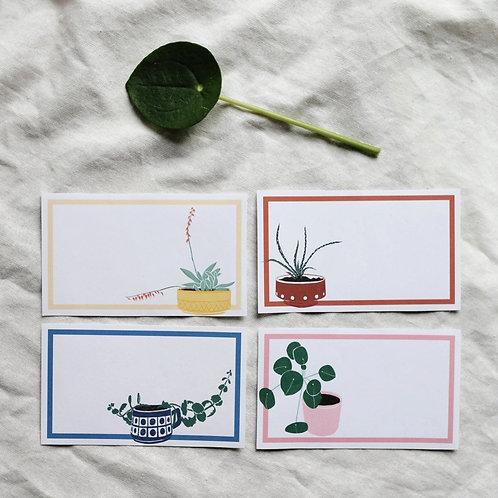 Adressaufkleber Pflanzentöpfe