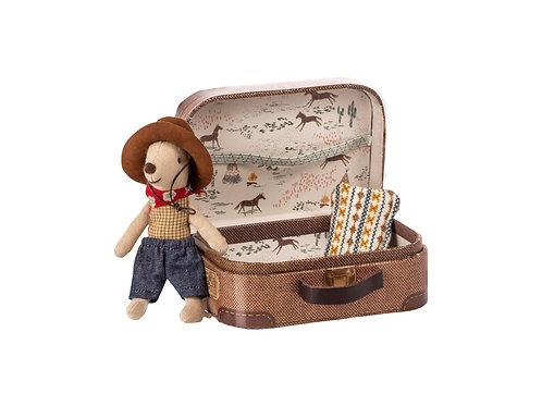 Cowboy Maus im Koffer