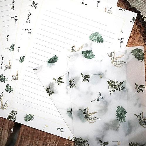 """Briefpapier Set """"Im Garten"""""""