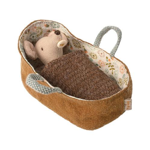 Babymaus in der Tragetasche 8cm I MAILEG