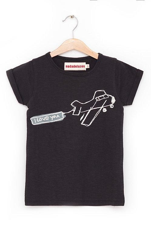 T-Shirt Airplane Message I NADADELAZOS