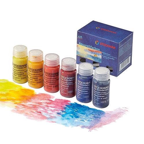 Aquarellfarben 6 Farben im Karton I Stockmar