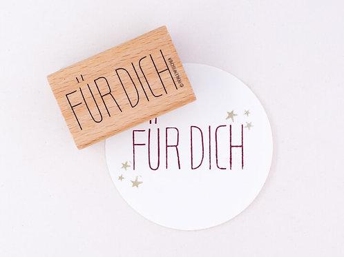 Stempel FÜR DICH XL | PERLENFISCHER