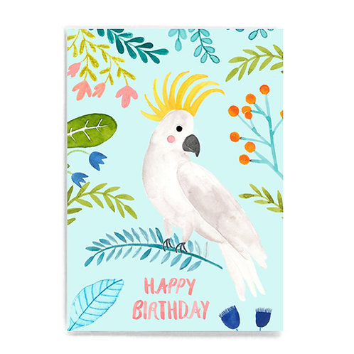 Happy Birthday mit Kakadu