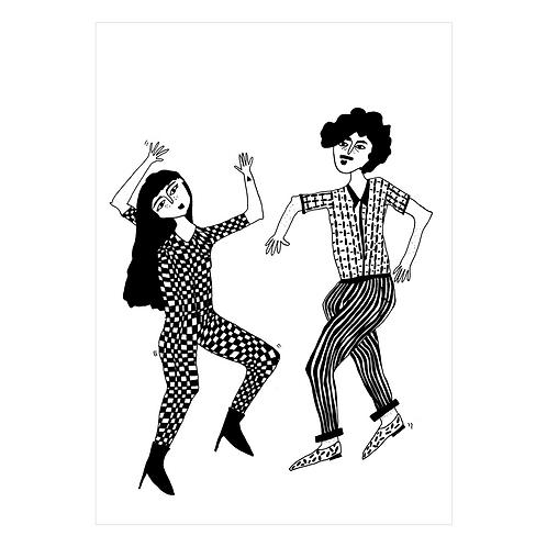 Karte Dancing couple I helen b