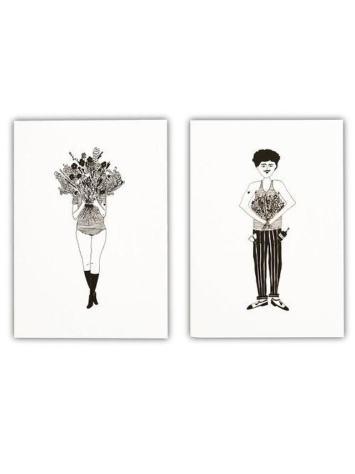 Notizbuch Set Flower girl & flower man I helen b