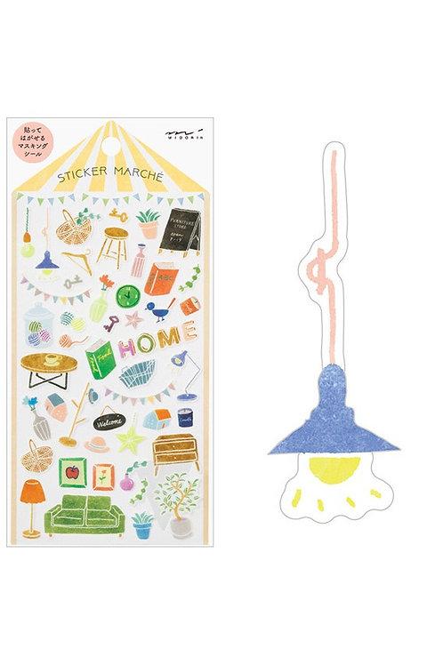 Sticker Home I MIDORI