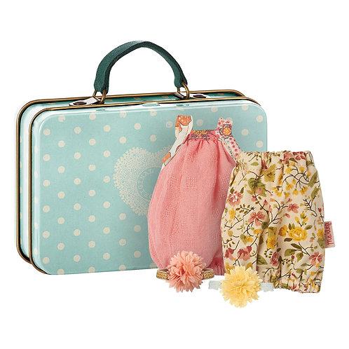 Koffer mit 2 Kleidern für Häschen 16cm/Maus 13cm I MAILEG