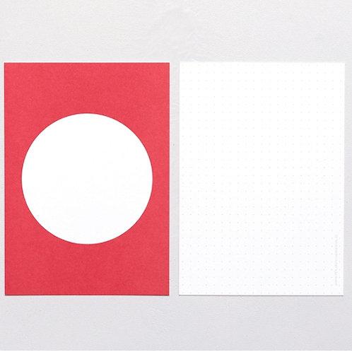 Postkarte Punkt Rot | PERLENFISCHER