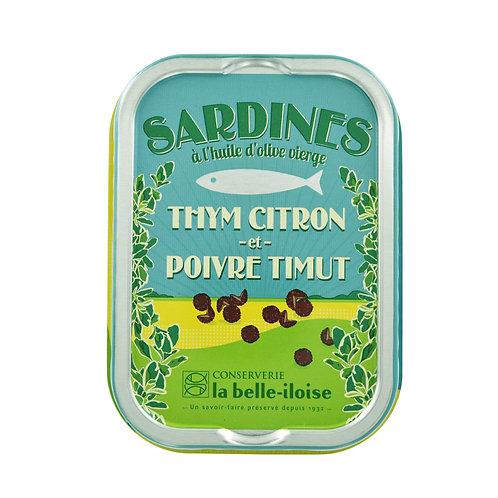 Sardinen mit Zitronenthymian & Timut-Pfeffer | la belle-iloise