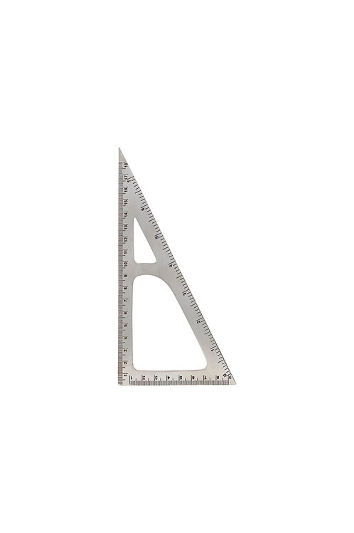 Dreikantlineal Silber-Finish I MONOGRAPH