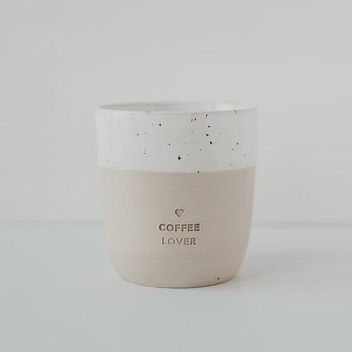 """Becher aus Steingut """"Coffee Lover"""""""