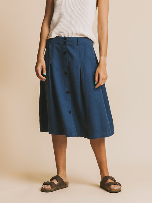 Blue Hemp Tugela Skirt I THINKING MU