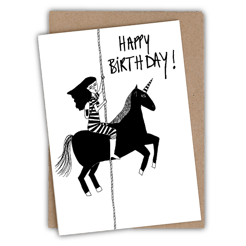 Happy birthday black unicorn | helen b