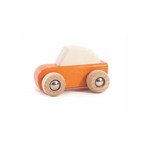 Aufziehauto aus Holz Orange