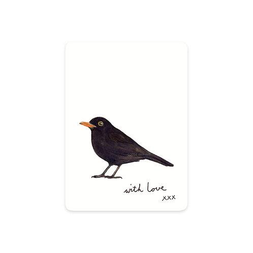 Minikarte Schwarzer Vogel
