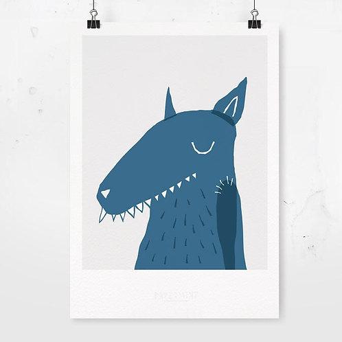 Kunstdruck Wolf I PAPERMINT