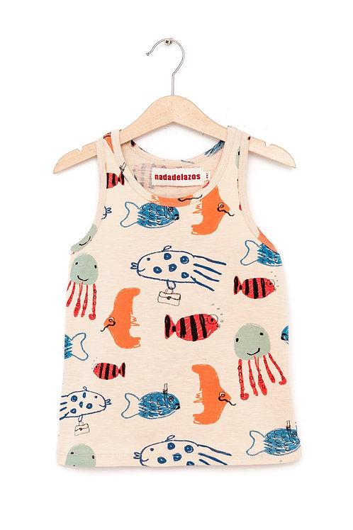 T-Shirt Diving Fishes I NADADELAZOS