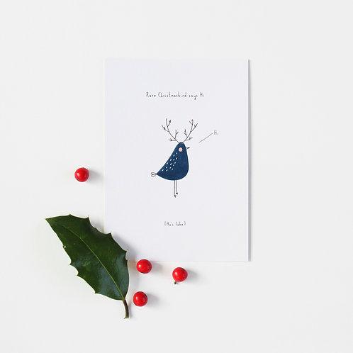 """Karte """"Rare Christmas Bird"""""""
