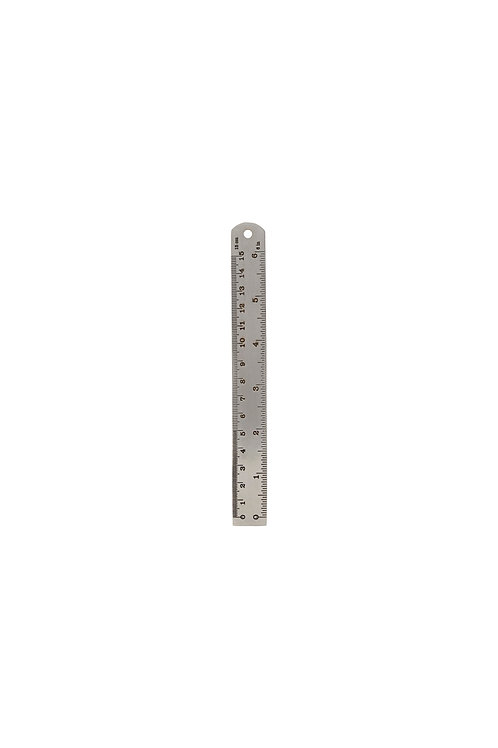 Lineal 15 cm Silber-Finish I MONOGRAPH