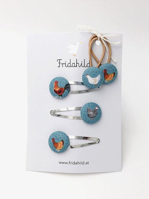Set Hennen und Hahn I Fridahild