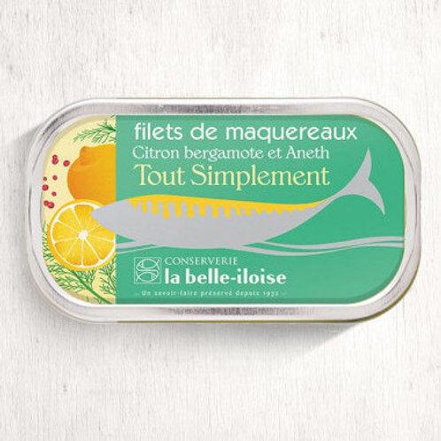 Makrelenfilets Zitrone Bergamotte & Dill | la belle-iloise