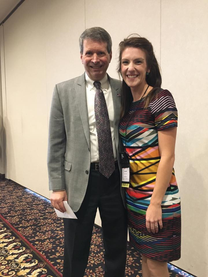 Executive Director of IDA, Doug Bush and IDHA Member Heather Taylor