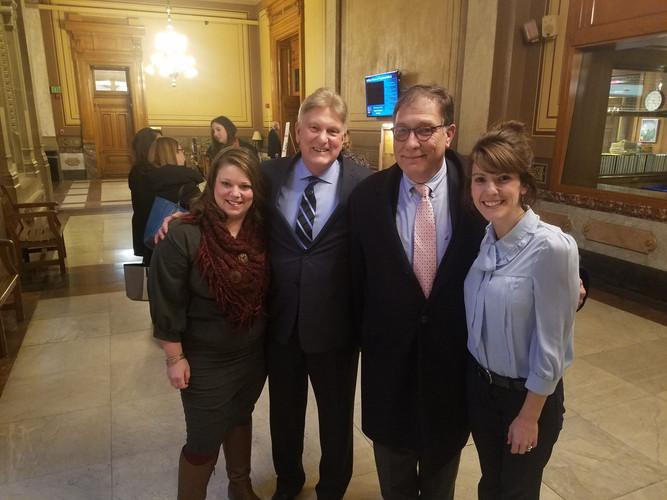 Amanda Apple, Steve Beebe, Ed Popcheff, and Heather Taylor at the Indiana Statehouse