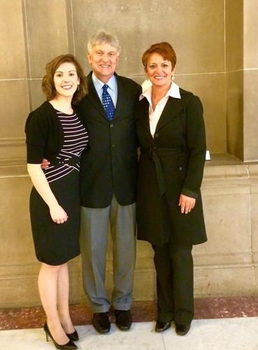 IDHA member Heather Taylor, IDHA Lobbyist Steve Beebe, and IDHA Member Melissa Rippey