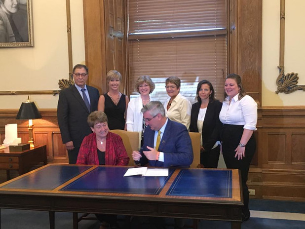 Governor Holcomb signing HB 1116