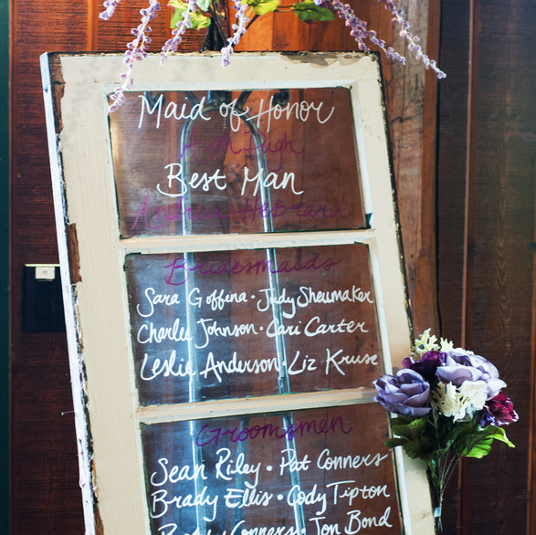 Wedding Party Sign