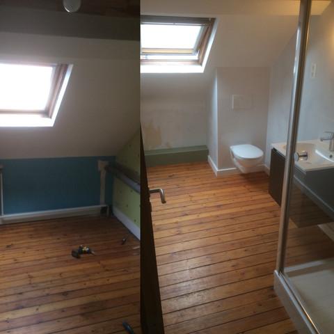 Slaapkamer wordt badkamer te Anderlecht