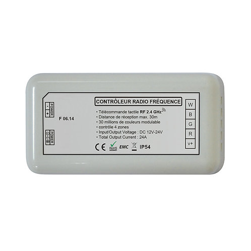 Contrôleur pour ruban LED RGB + Blanc, 280W, 12V-24V
