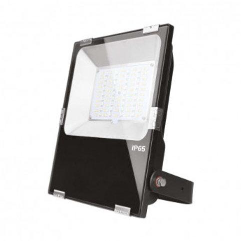 Projecteur LED extérieur cadre noir, 50W, RGB + blanc