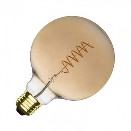 Ampoule LED E27 G125, filament spirale, 4W, gold, dimmable