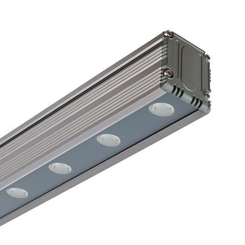 Barre linéaire Wallwasher LED cadre gris, 36W, RGB