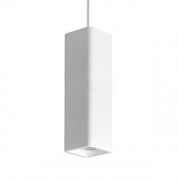 Lampe suspendue vintage blanche en pierre