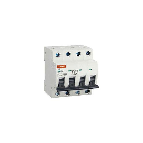 Disjoncteur automatique résidentiel MAXGE, 4P, 6kA, 25A