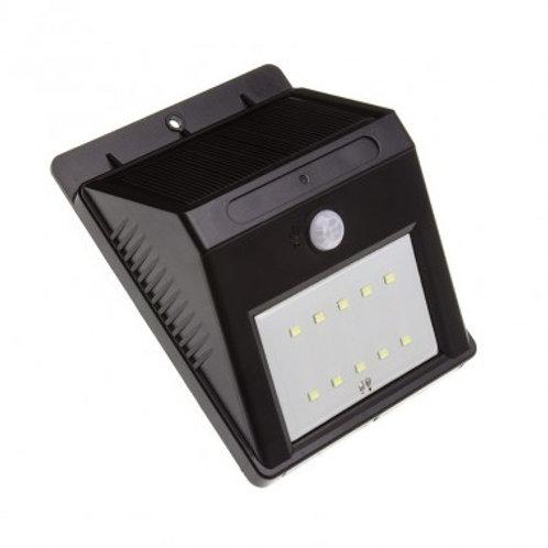 Applique LED SMD rectangulaire cadre noir, solaire, 1W, avec détecteur