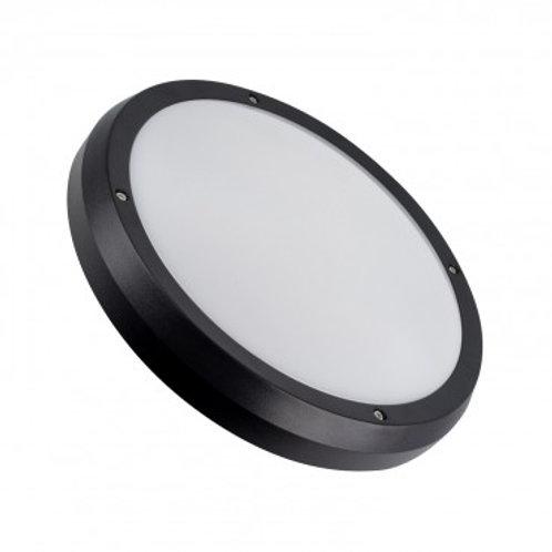 Plafonnier LED rond cadre noir, puissance maximale 2x60W