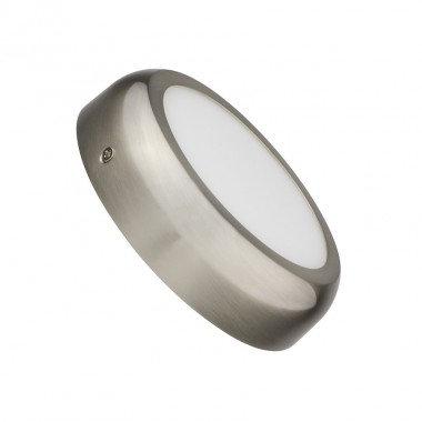 Plafonnier LED rond cadre argenté, 12W