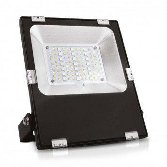Projecteur LED extérieur cadre noir, 30W, RGB + blanc