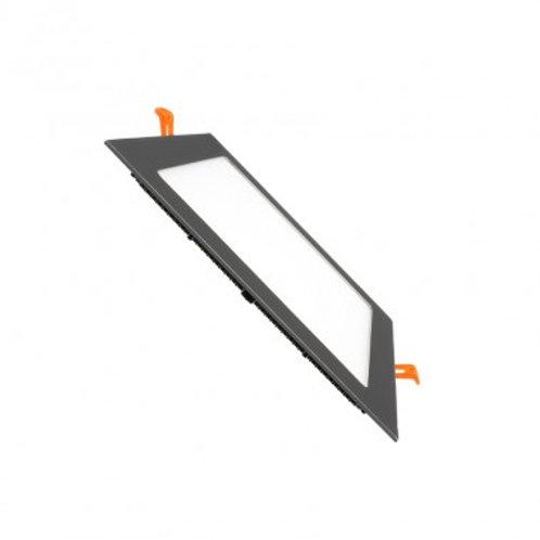 Dalle LED SMD carrée cadre noir, 15W